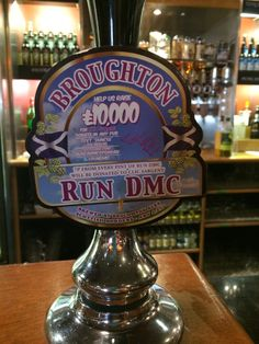 For each pint purchased, Broughton Ale will donate 7 pence (to an individual named Duncan McSporran or DMC who was pub-running the equivalent of five marathons) to support CLIC Sargent, a leading UK cancer charity for children, young people and their families.