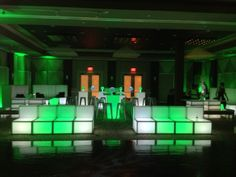Love this Green and White Glow lounge