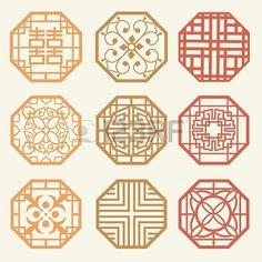 Korean old of Window Frame Symbol sets. Korean traditional Pattern is a Pattern Design. Stock Photo - 19331163 korean traditional interior, korean traditional pattern, patterns, korean traditional design, symbol, frames, pattern design, window frame, tradit pattern