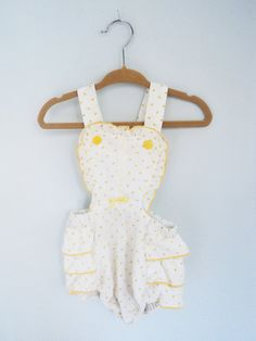 sweetest little sunsuit romper. I had one of these as a kid!