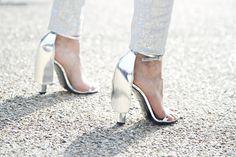 Alexander Wang silver heels