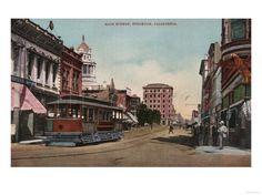 Postcard late 1800's - Main Street, Stockton, California