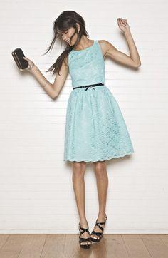 So pretty in blue! <3 this Calvin Klein dress & accessories