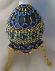 Forget-Me-Not Beaded Egg