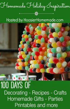 100 Days of Homemade Holiday Inspiration | Decorating, Recipes, Crafts, Homemade Gifts and more | Hosted by HoosierHomemade.com