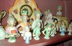 antiqu half, cushions, cottages, pincushion doll, vintag half