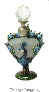 Well Jeweled Peacock Perfume Bottle**.