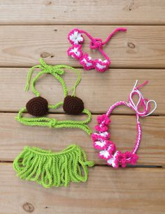 Newborn/Infant Crochet Hula Photo Prop by ScarletLilyCreations, $35.00