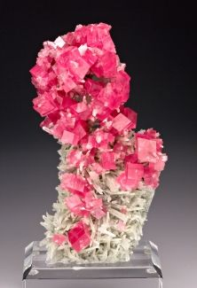 Rhodochrosite with Quartz from Hedgehog Pocket, Sweet Home Mine, Mount Bross, Alma District, Park Co., Colorado, USA