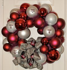 Aggie Christmas wreath