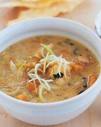 Chicken and Sweet Potato Chowder   All the ingredients in the chowder point to a rich, buttery Chardonnay.