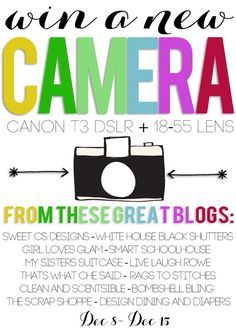 Canon T3 Giveaway