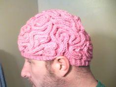 crochet ideas, halloween costumes, zombi knitter, funni, awesom, brain hat, knit hats, zombies, zombie walk