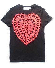 Crochet Heart Patch Inspiration