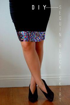 Dare I DIY?: Sequin-Block Skirt