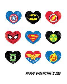 Superhero Valentine Printable