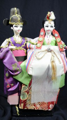 Vintage Hand Crafted Korean Wedding Dolls by FrmthAttic on Etsy, $15.00