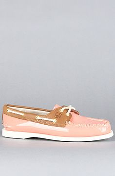 The Two Eye Boat Shoe in Coral Patent, Sperry