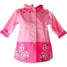 toddler girls raincoats light pink-pink