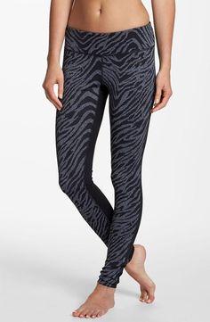 Z is for Zella 'Live In' zebra print leggings Nordstom