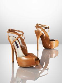 strappy peep toe sandals | ralph lauren