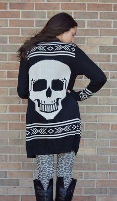 sweater, skull