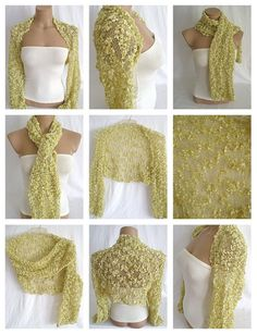 Hand knitted gold bolero shrug by Arzus on Etsy