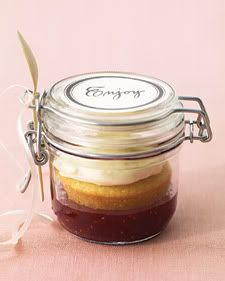 Cupcake in a little mason jar!  Cute for gifts