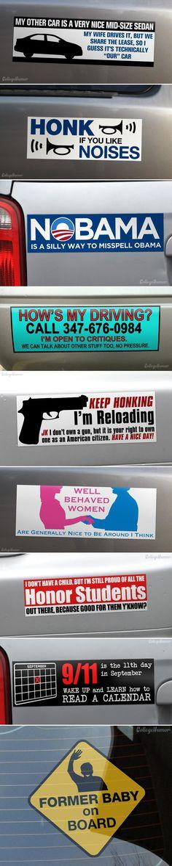 Passive bumper stickers.
