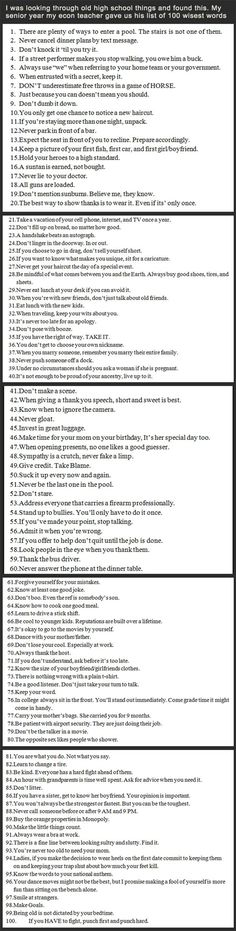 Great list. You HAVE to read this, it's awesome.
