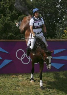 What a face! Boyd Martin of the U.S. competes in the Eventing Individual Cross Country equestrian event at the London 2012 Olympic Games in Greenwich Park.