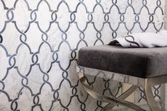 Detail of the Jet Set wainscot from the Pasadena Showcase of Design. Oasis Pattern.