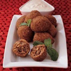 Arabic Food Recipes: Meat Kibbeh Akras Recipe