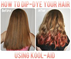 How to Dip Dye Your Hair with Kool-Aid