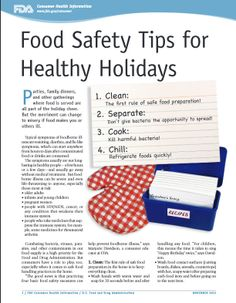 FDA food safety tips for #healthy #holidays