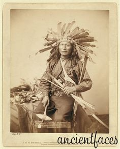 """This is believed to be an image of Lakota Sioux Native American """"Little"""", who, along with 150 other Native Americans, were slaughtered in the Wounded Knee Massacre December 29th, 1890 in South Dakota. Learn more: http://www.ancientfaces.com/research/photo/1216730/little-the-instigator-of-indian-revolt-at-pine-rid"""