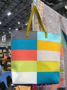 Quilt Market Spring 2012 - Alexia Marcelle Abegg launched her new pattern line Green Bee - this is the Ship Shape bag.