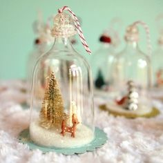 fun tutorial on how to make vintage christmas inspired ornaments for your tree.