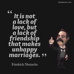 Friedrich Nietzsche #quote about marriages