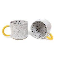 Rubber-Dipped Dot Mugs