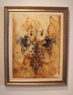 Anna Jaap  charcoal on tea stained paper