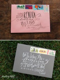 fun way to address envelopes