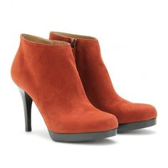 Balenciaga Suede Platform Ankle Boots ($435) ❤ liked on Polyvore