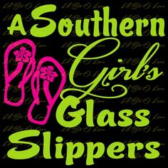 2 Color Southern Girls Glass Slippers Flip Flops Vinyl Decal Auto Vehi | LilBitOLove - Housewares on ArtFire