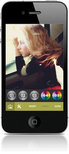 VSCO Cam app for iPhone editing    ----BTW, Please Visit:  http://artcaffeine.imobileappsys.com