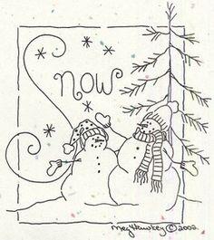 Crabapple Hill Studio Snow stitchery pattern
