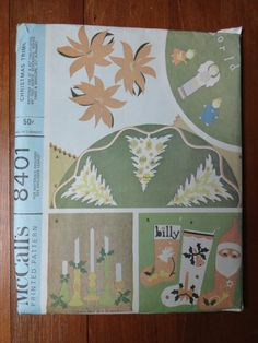 vintage 60's mccall's christmas patterns