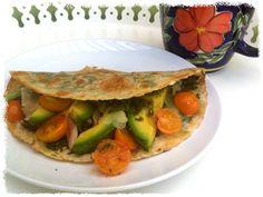 Pesto, Chicken, Avocado and Tomato Quick Quesadilla Gluten Free Recipe