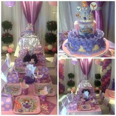 Pretty Sofia the First Party.  See more party ideas at CatchMyParty.com  #sofiathefirstpartyideas