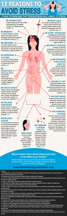 17 Reasons To Avoid Stress (or at least minimize it!) #infographic